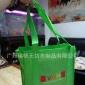 热销定制人工走台丝印绿色无纺布车缝手提连到底礼品包装手提袋